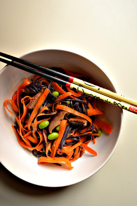 Black Rice Noodle Salad (DSC_0456)
